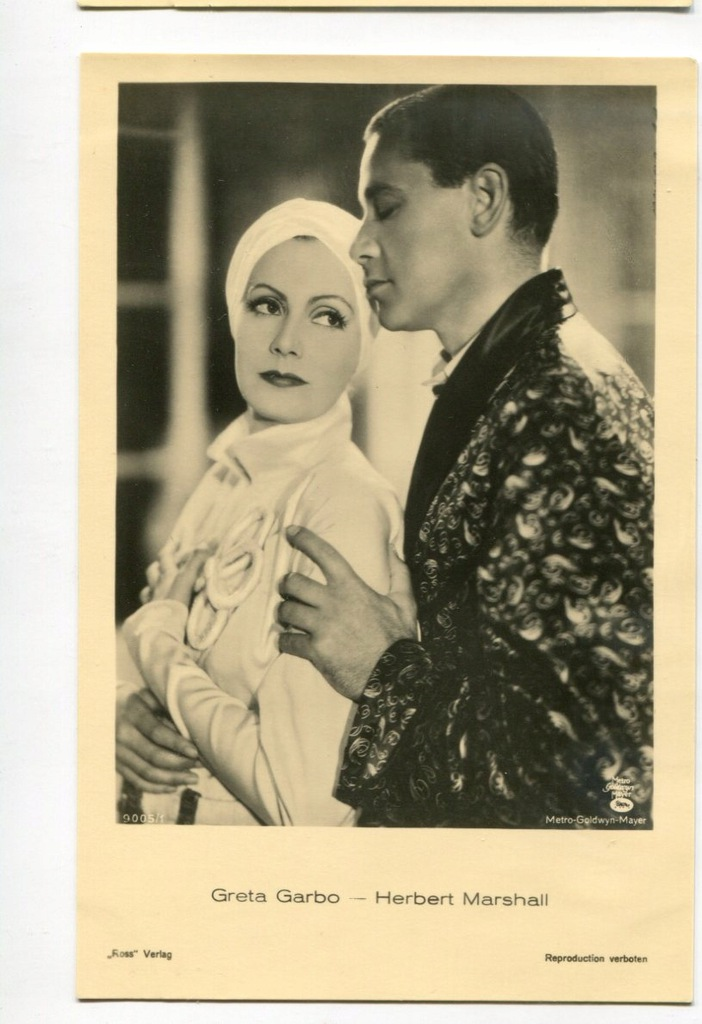 Greta Garbo Kino Film Aktorka Foto Pocztówka 32
