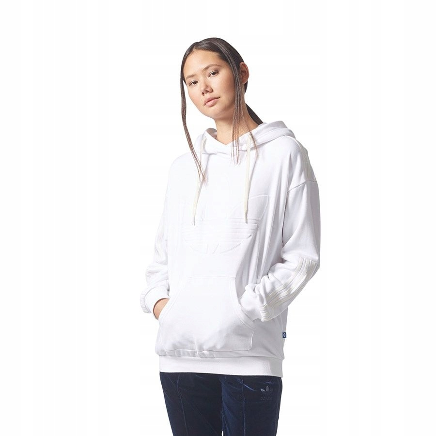 Bluza adidas Originals Flock Hoodie BQ8019 42 biał
