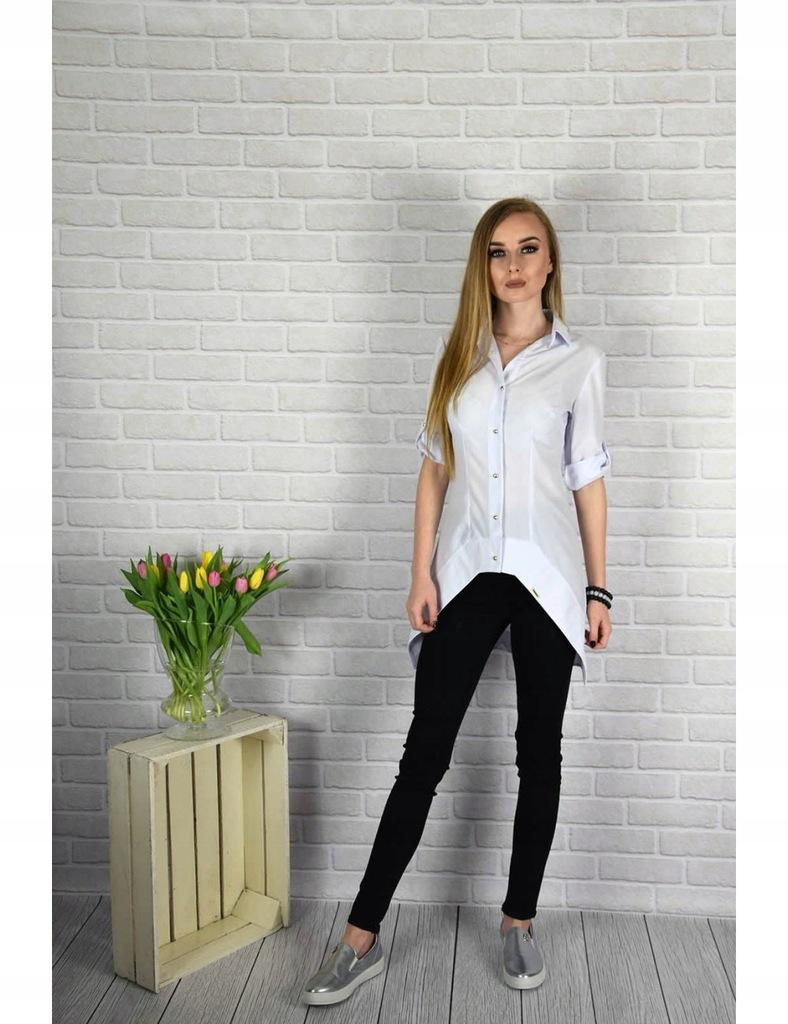 Bluzka koszula Kabaz biała r 38