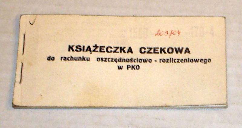 Książeczka Czekowa PKO .