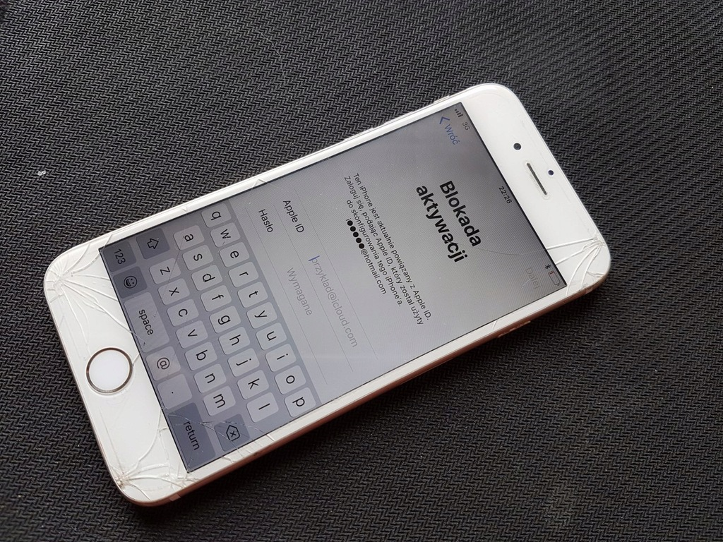 Iphone 6 16gb Zablokowany Icloud