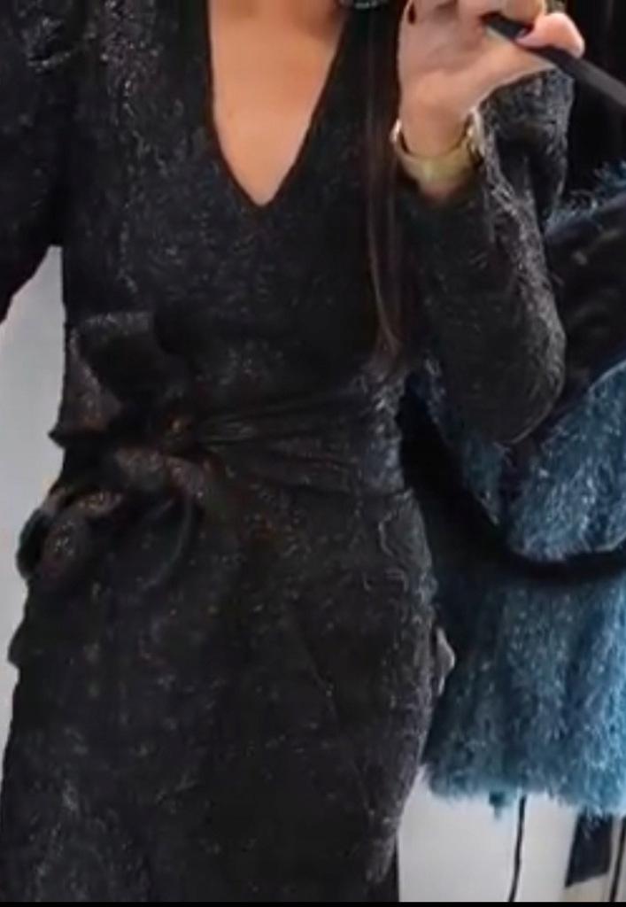 Zara L nowa sukienka mini z tkaniny strukturalnej Chorzów