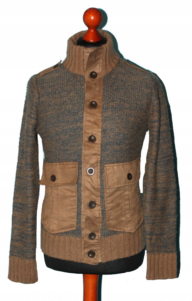 Zara sweter męski wełna rozm. S/M pachy: 48 cm