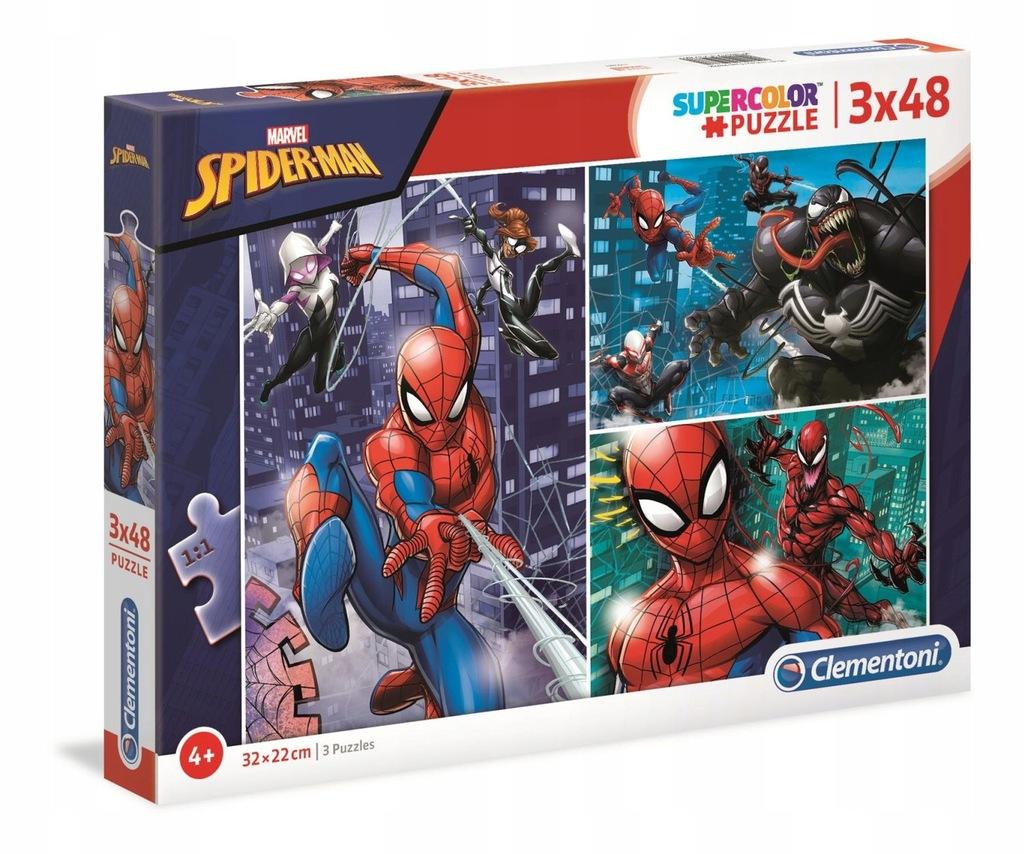 SPIDERMAN PUZZLE 3X48 EL CLEMENTONI 25209