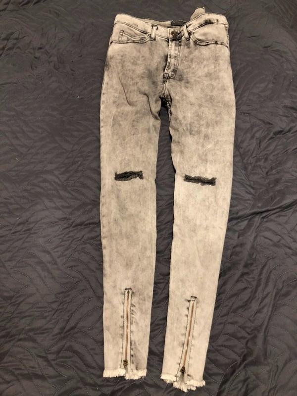 Zara nowe spodnie skinny szare marmurkowe 38-30-M