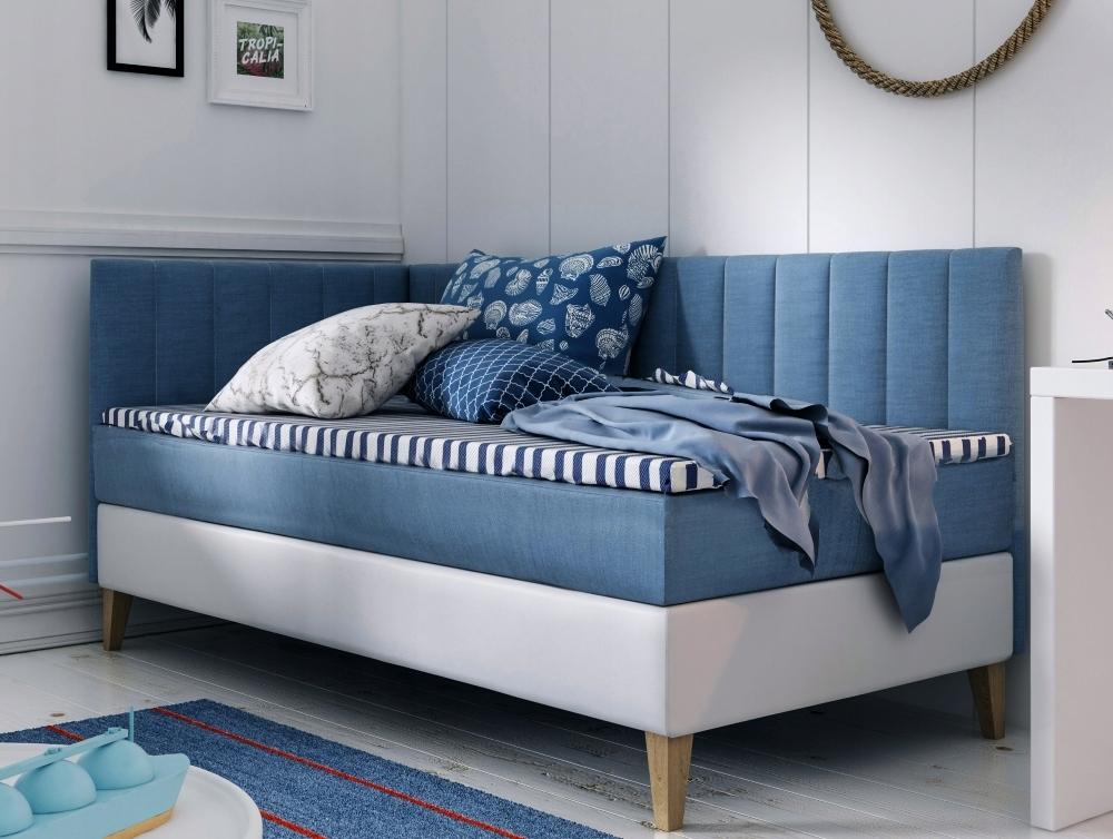 SZYBKO INTARO A16 łóżko tapicerowane 90, niebies