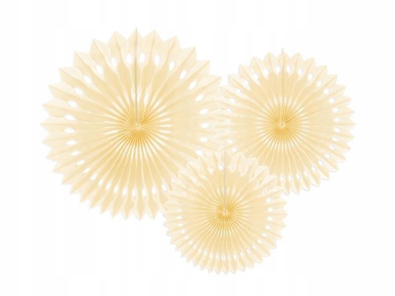 Rozety dekoracyjne jasny kremowy 20-30cm, 150 szt.