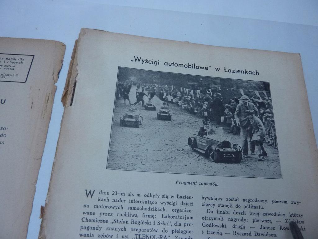 NAOKOŁO ŚWIATA N 103 1932 MODA POLSKA WYŚCIGI AUTO