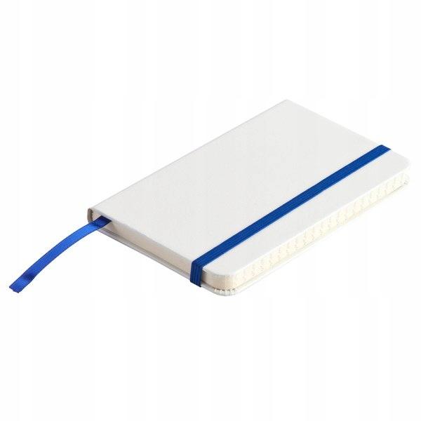 Notatnik Badalona 90x140/80k linia, niebieski/biał