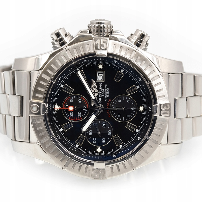 BREITLING SUPER AVENGER AUTOMATIC BLACK CHRONO