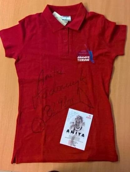 Koszulka z autografem Anity Włodarczyk!