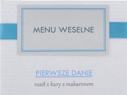 eleganckie, prostokątne menu - kolory do wyboru