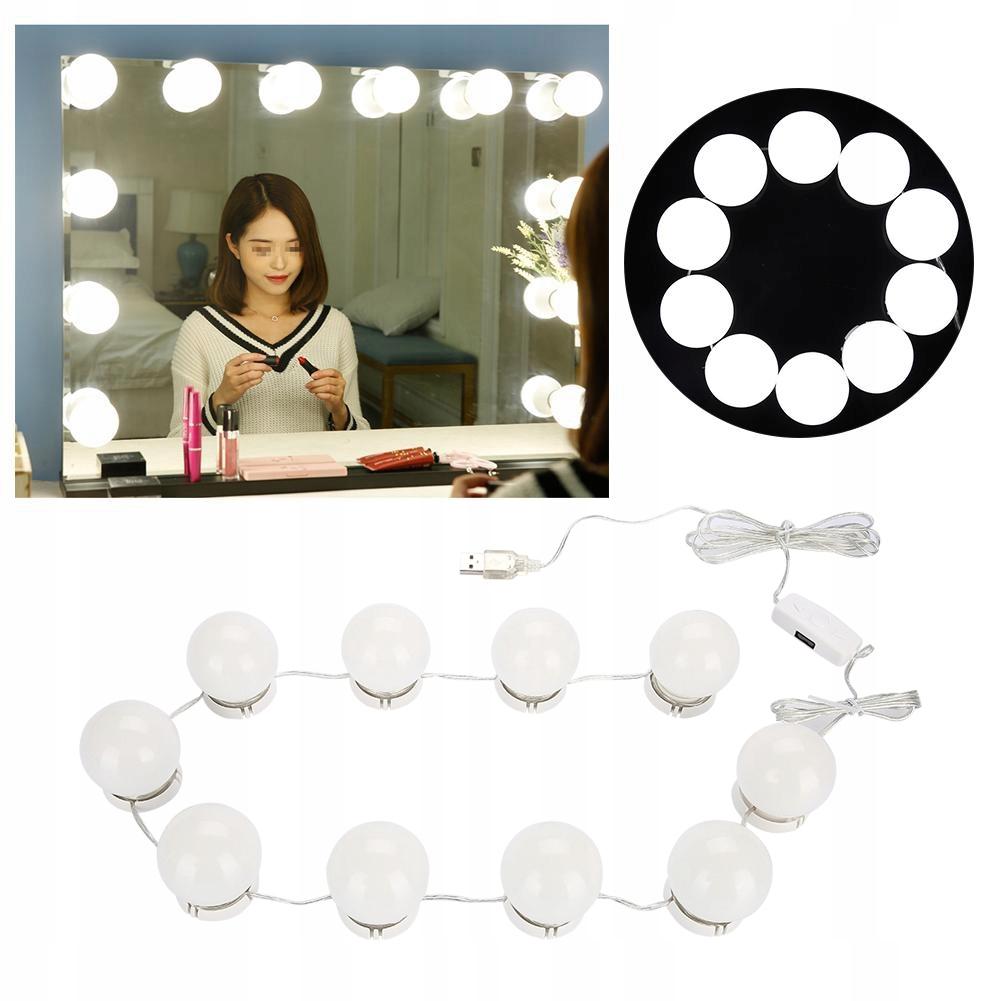 LED lampki na lustro toaletkę makijaż 10 sztuk