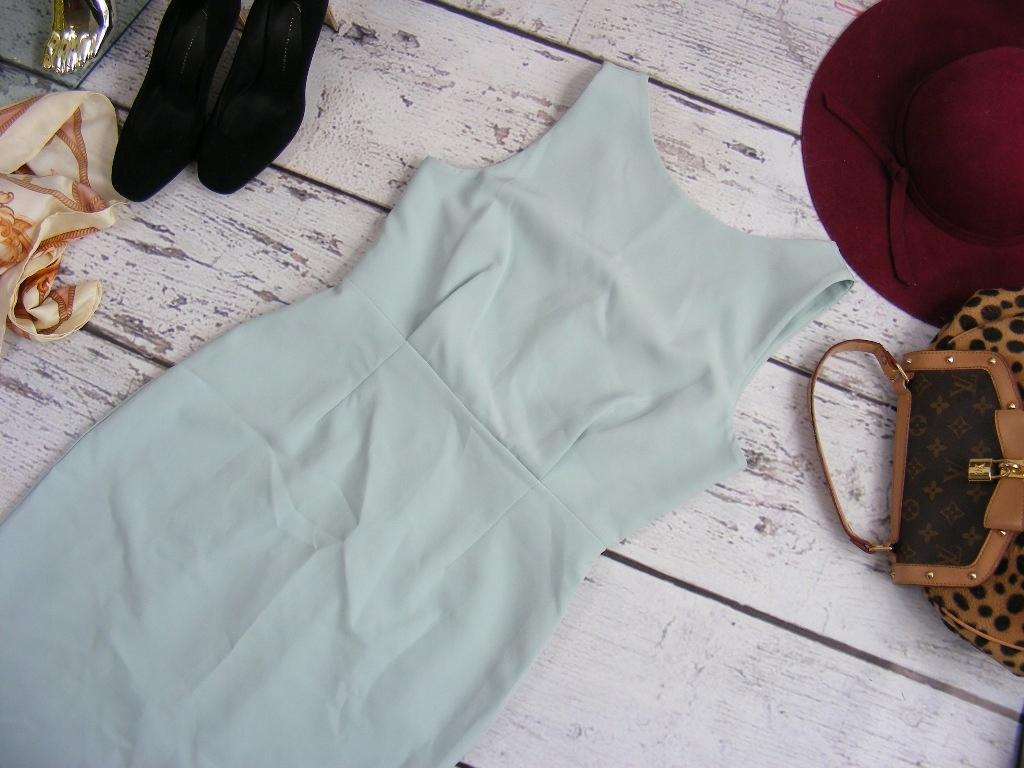 new look mint miętowa sukienka ołówkowa 38 M