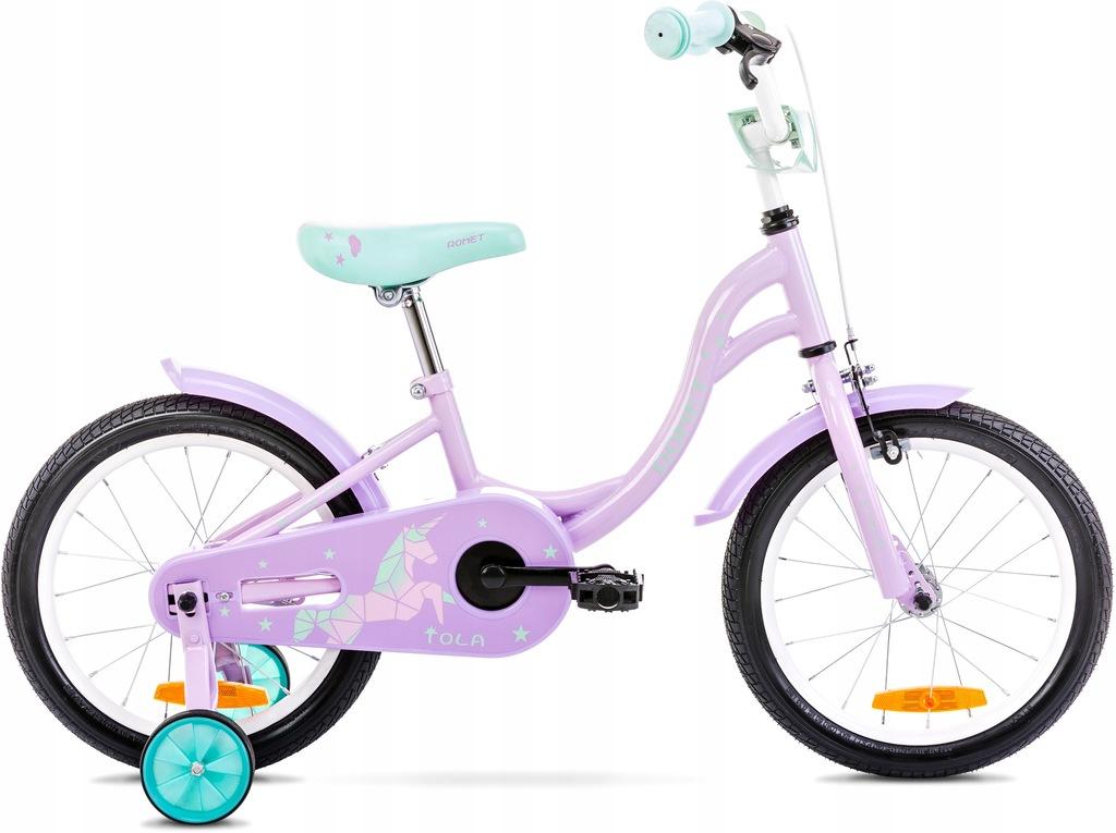 Rowerek dziecięcy dla dziewczynki ROMET TOLA 16 4+