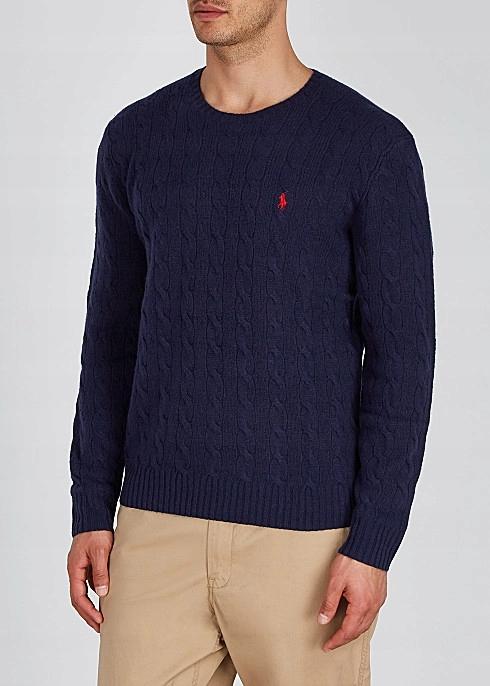 Sweter męski POLO RALPH LAUREN granatowy rozmiar L