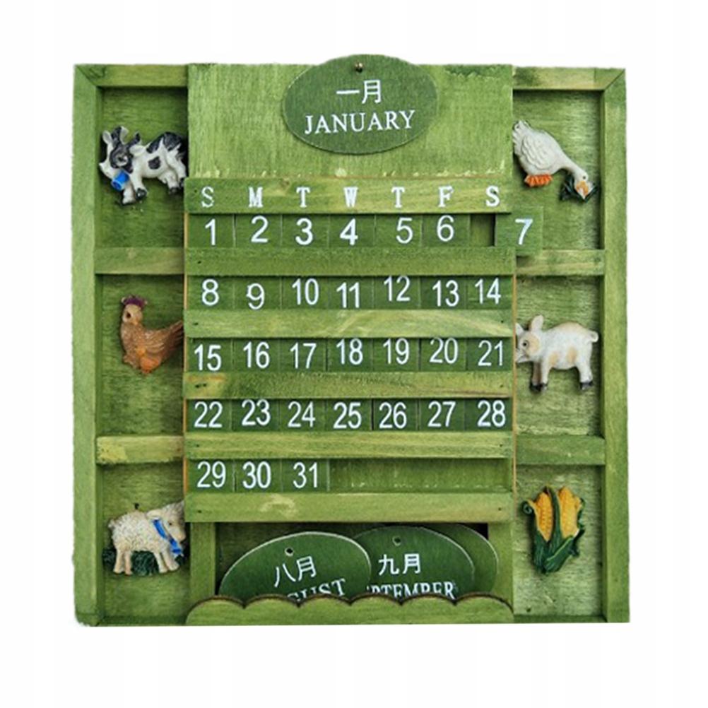 Kreatywny kalendarz biurkowy Drewniany mini kalend