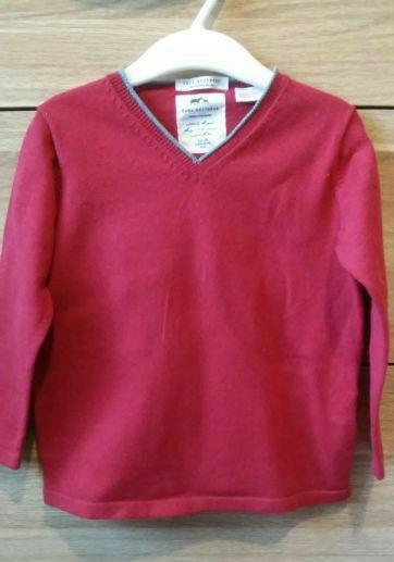 Zara elegancki sweterek bordo r.98