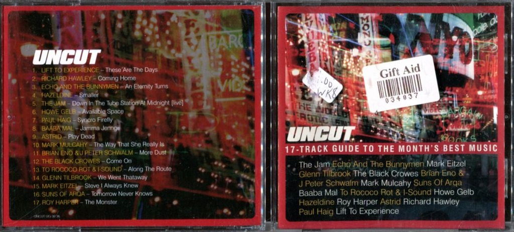 UNCUT - 17-TRACK GUIDE TO THE BEST MUSIC / XD3855