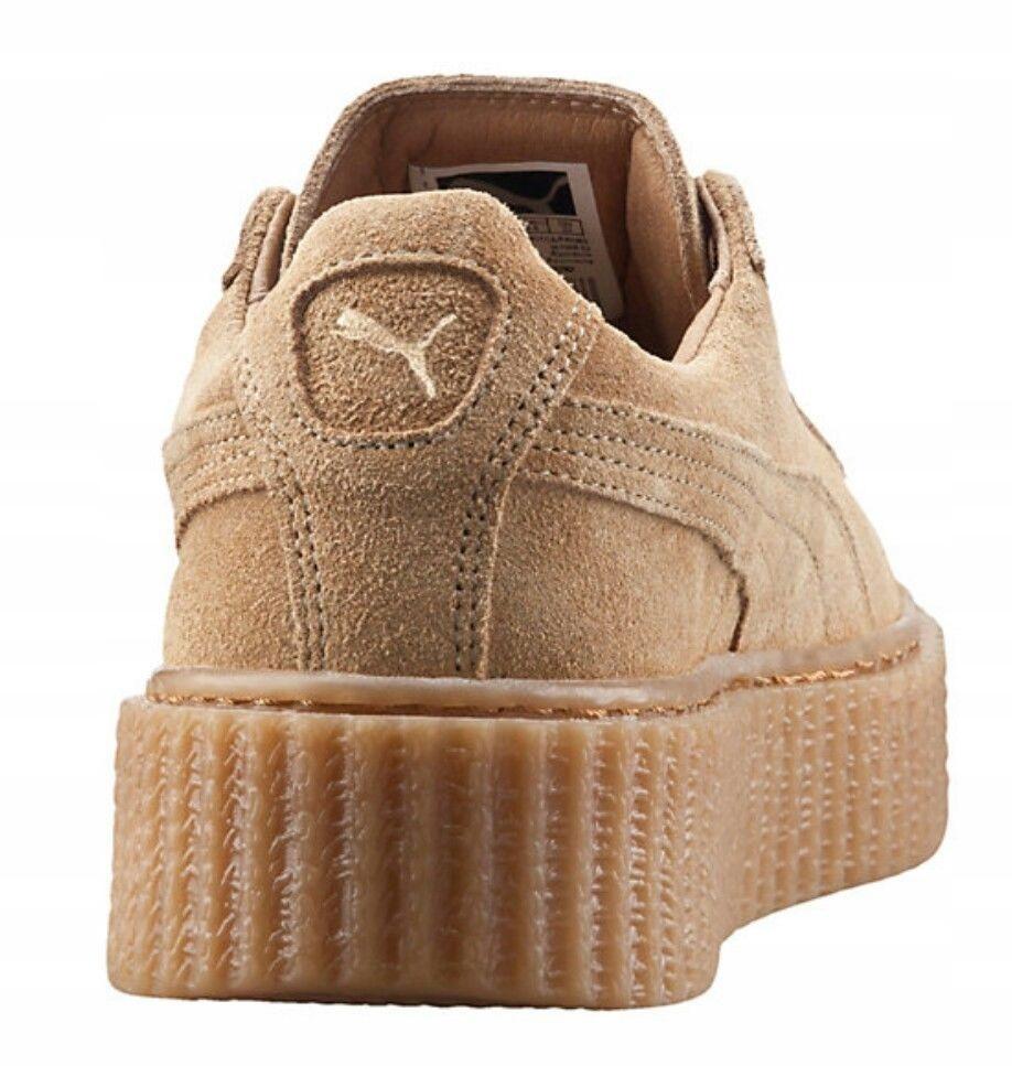 Be?owe sneakersy na platformie Puma Creeper x Fenty by Rihanna
