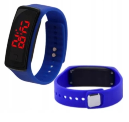 Zegarek Silikonowy Led Sportowy Opaska Niebieski 9673206727 Oficjalne Archiwum Allegro