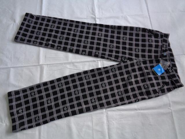 #ADIDAS#__32__Modna Krata spodnie dresowe nowe#