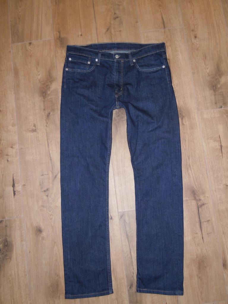 LEVIS 513 granatowe jeansy 34/32 BDB jak NOWE