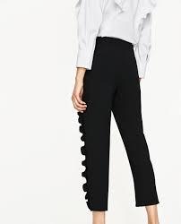 spodnie ZARA falbanki czarne eleganckie nowe MUST