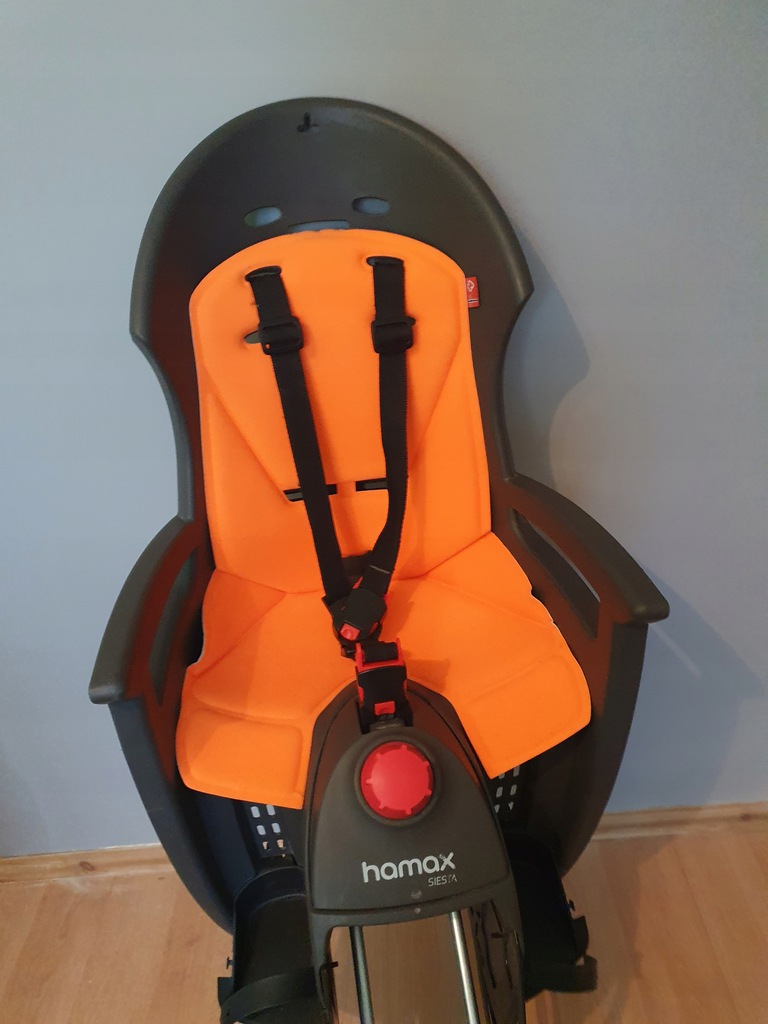 Fotelik rowerowy tylny Hamax siesta pomarańczowy