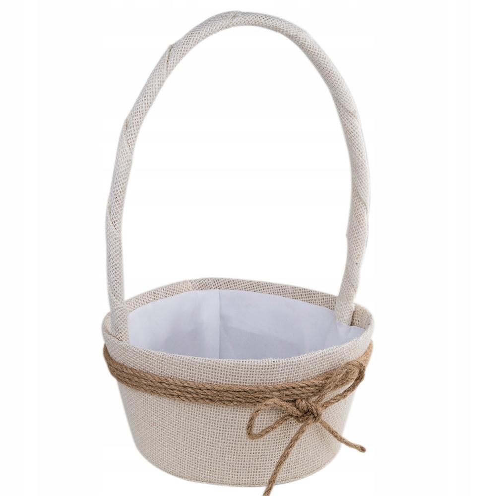 Koszyk Wielkanocny Na Swieconke Jutowy Kremowy 8931831848 Oficjalne Archiwum Allegro