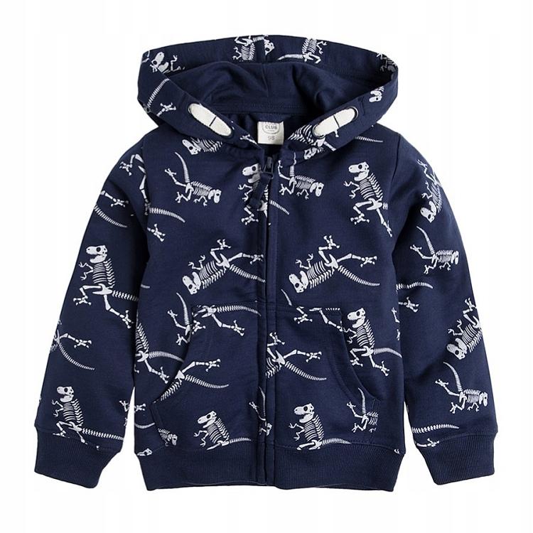 COOL CLUB bluza z kapturem dinozaury 104