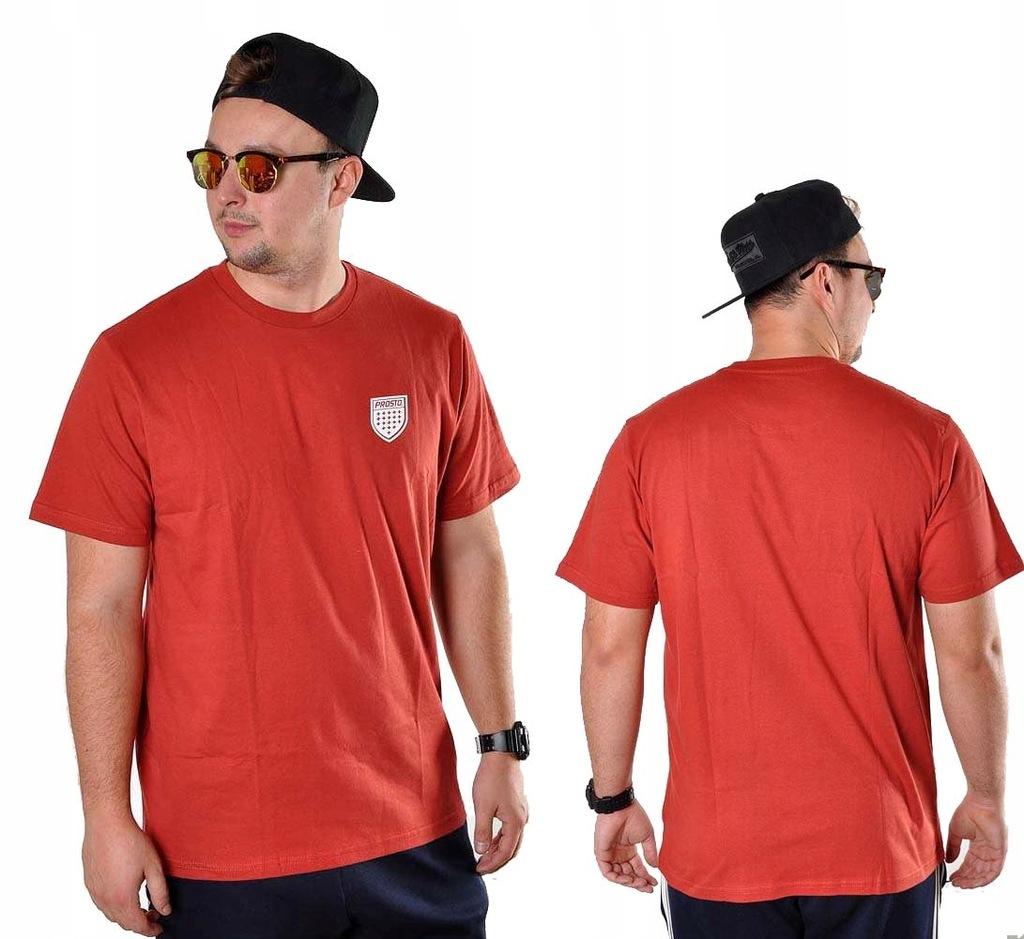 Koszulka XL PROSTO KLASYK LILSHIELD t-shirt bordo