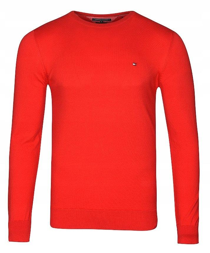 Sweter Męski Tommy Hilfiger Czerwony C-Neck / XL