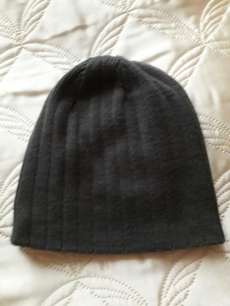 czapka męska - szara - rozmiar uniwersalny