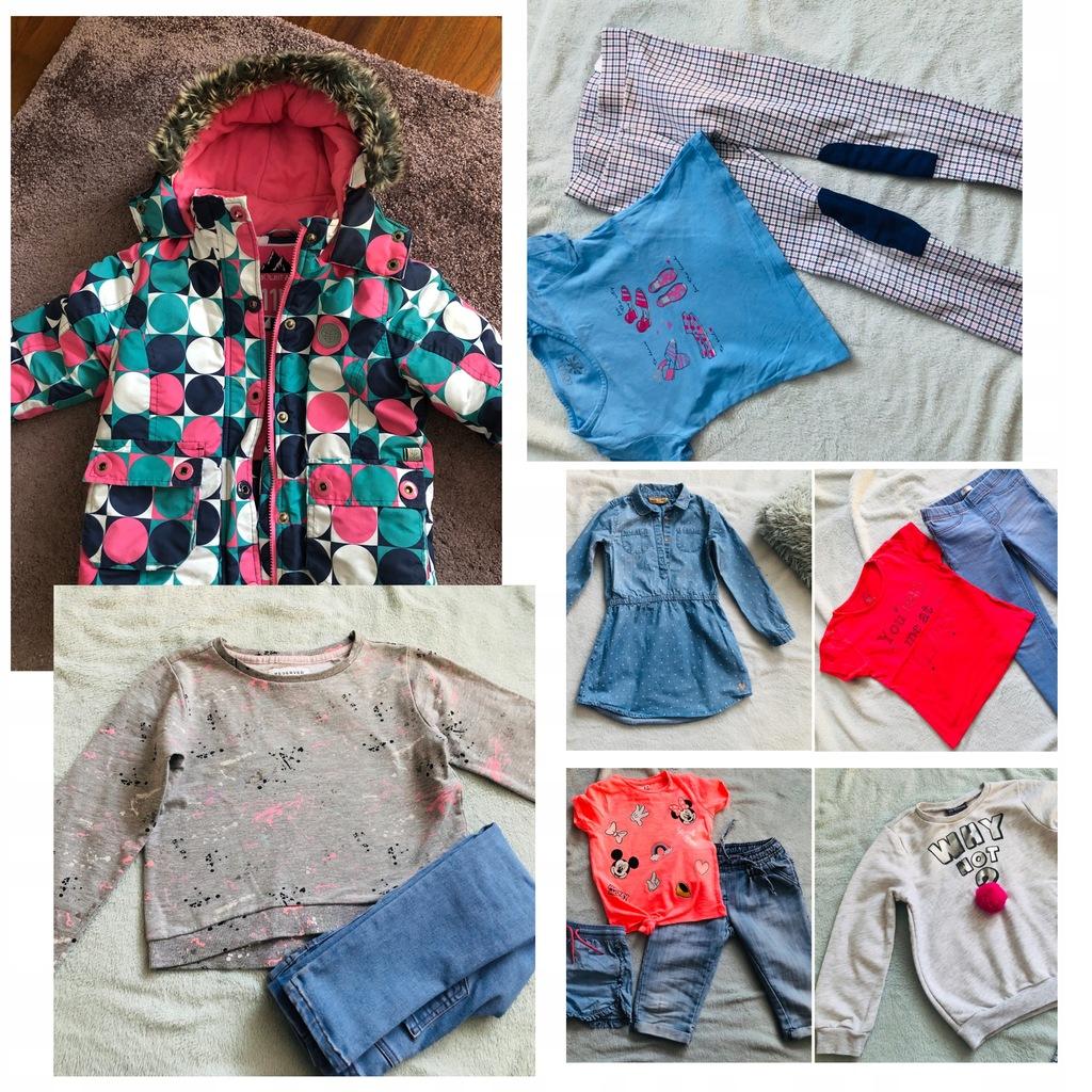 Paka zestaw dziewczynki jesień zima 110-116 kurtka