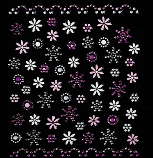 PEGGY SAGE - Samoprzylepne ozdoby Pink line