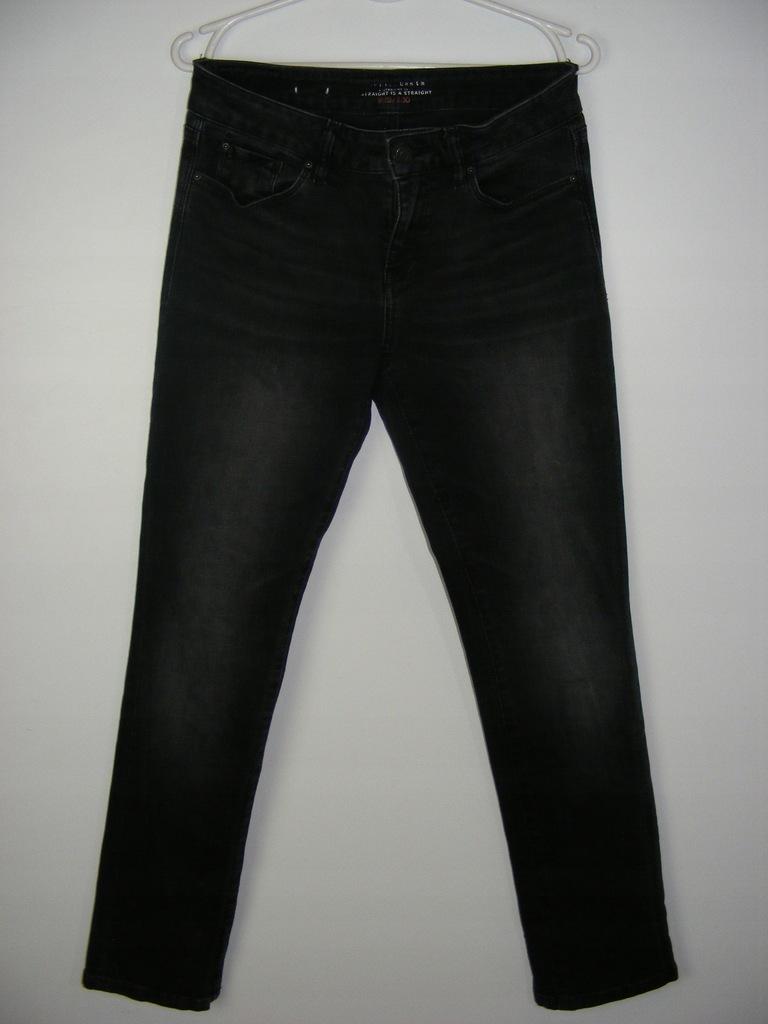 ESPRIT grafitowe jeansy straight R 28/30