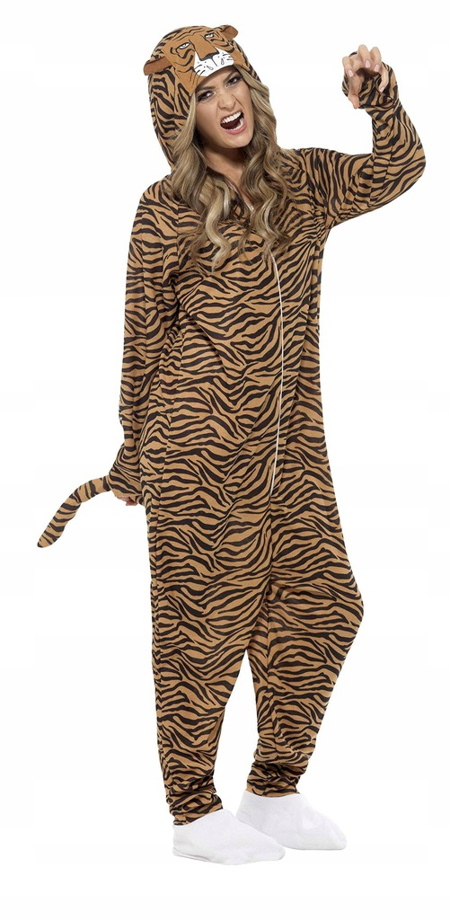 Smiffys Adult Unisex Tiger Costume All In One Jump