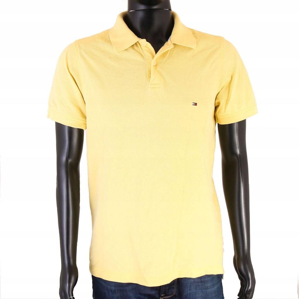 S Tommy Hilfiger Koszulka Polo Męska Żółta roz L