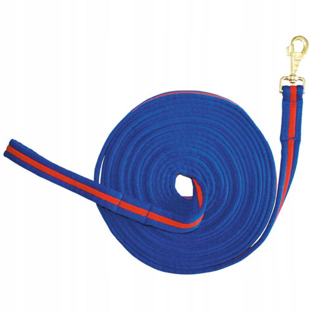 Lonża bawełniana HKM 8 m niebieska