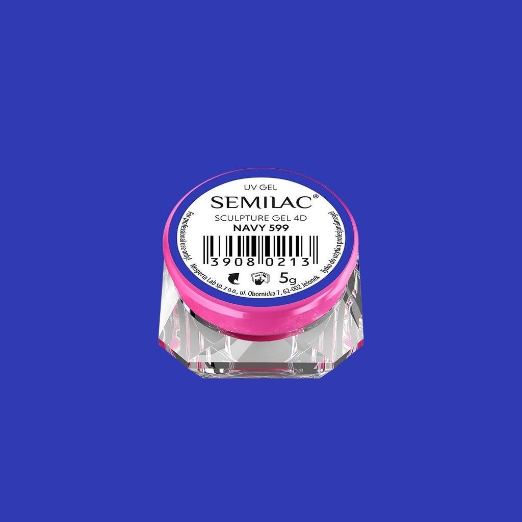 SEMILAC żel strukturalny 4D PLASTELINA NAVY 599