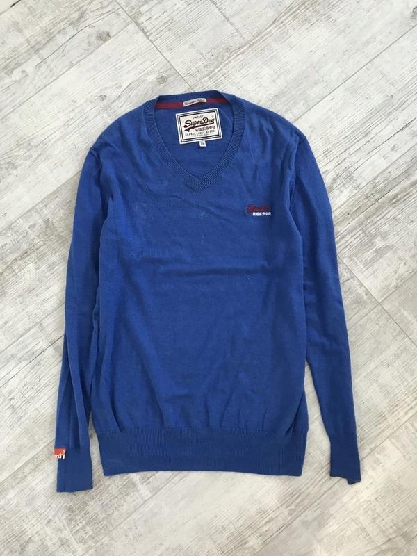 SUPERDRY z kaszmirem sweter męski XL 42