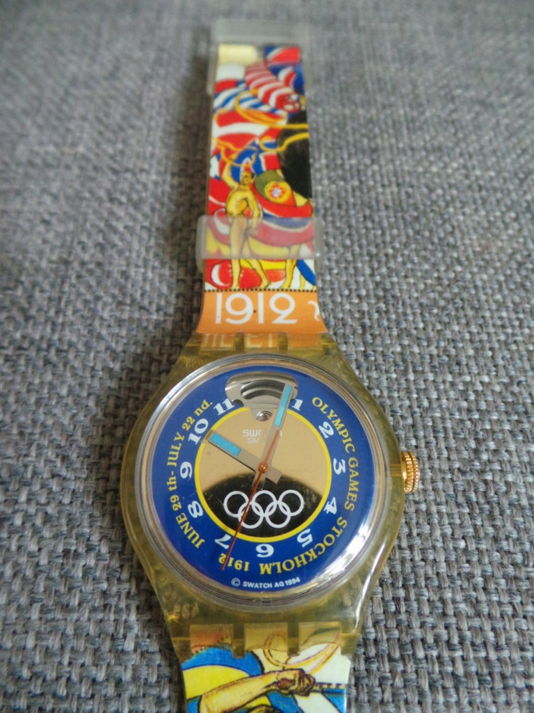 UNIKAT Swatch automatic olympic Stockholm Swiss