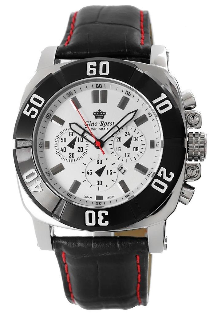 Zegarek Męski GINO ROSSI F1-BLACK SPORT 6420A-1A
