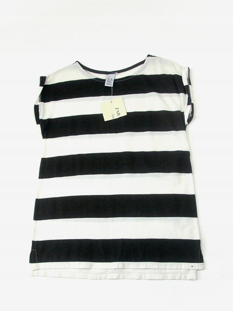 T-shirt w paski, Zara, Biały, 116