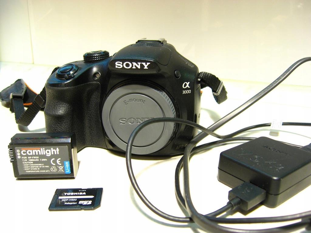 Aparat Sony a3000 20.1 Mpx Stan BDB + gratisy
