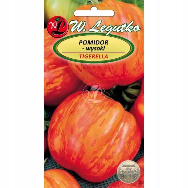 Pomidor gruntowy Tigerella 0.2g. wysoki pasiasty