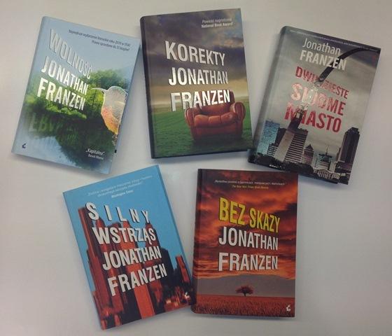Zestaw książek JONATHANA FRANZENA!!!