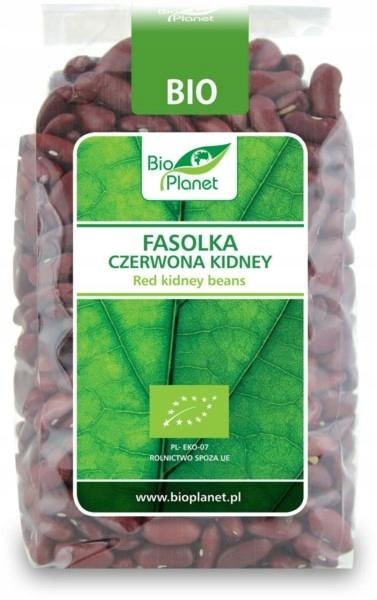 BIO PLANET Fasolka Kidney czerwona BIO 400g