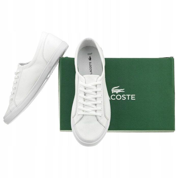 Buty Damskie Tenisówki Lacoste Lancelle BL 2 Białe